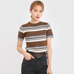 arrange stripe color knit