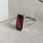 가넷 클래시 반지(1월탄생석)garnet classy ring