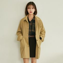 basic single button trench coat