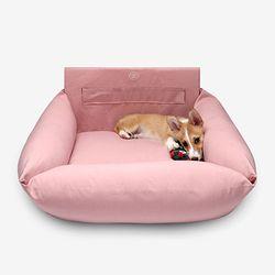 강아지 꿀잠 카시트 Pink M(대형견까지)