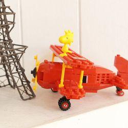 피넛츠 블럭 Flying Ace 빨간 비행기 (7523)