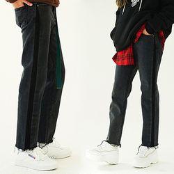 Side blocking Black Jeans (unisex)
