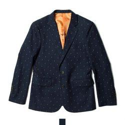 남자아우터 번개패턴 네이비 콤비 자켓