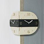 (ktk095)라운드 코너 벽시계 (블랙라인)