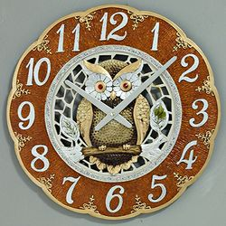 (ksol004)저소음 부엉이 대형 시계