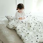 [쟈니스타]사계절용 일체형 낮잠이불 메리도트 화이트