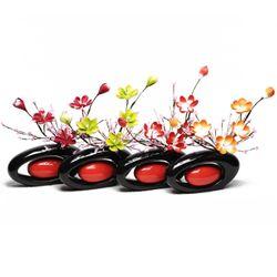원형손잡이화병-핑퐁꽃
