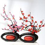 원형손잡이화병-매화꽃
