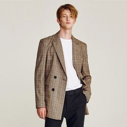 GRAND CHECK DOUBLE JACKET (BROWN)