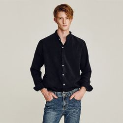 SIMILAR SUEDE OVERFIT SHIRTS (BLACK)