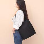 [루버킨] Fanning Shoulder Bag - BLACK