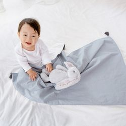 코니테일 코지 블랭킷 - 블루테슬 (극세사 아기담요)