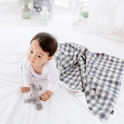 코니테일 코지 블랭킷 - 그레이체크 (극세사아기담요)