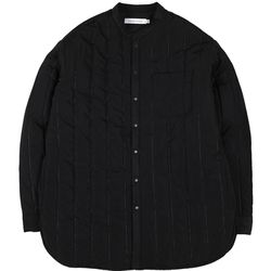 ADHESIVE QUILTING STRIPE PADDING SHIRTS BLACK