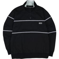 COC T.LINE HALF ZIPUP T-SHIRTS BLACK