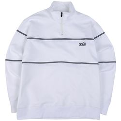 COC T.LINE HALF ZIPUP T-SHIRTS WHITE