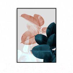 북유럽 인테리어 거실그림액자 식물 나뭇잎 [중형]