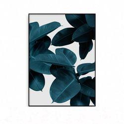 북유럽 식물그림 거실 인테리어 액자 나뭇잎 [중형]