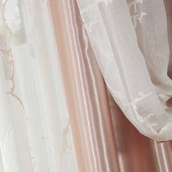 프렌치 럭셔리 암막겹자수 커튼(260x230)+커튼핀