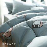 도우넛 양면극세사 겨울 이불베개세트+패드(Q)