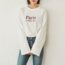 [로코식스] paris lettering t-shirts티셔츠
