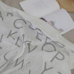 알파벳 북유럽 화이트 블랭킷 가리개커튼 146x70