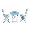 빈티지 블루 폴딩 테이블 세트