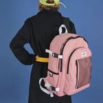 [USB포트+파우치SET] Signature Backpack (baby pink)