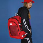 [USB포트+파우치SET] Signature Backpack (red)