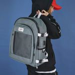 USB포트+파우치SET] Signature Backpack (gray)