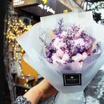 로랑 드라이플라워 꽃다발 꽃선물 (라벤더목화 M)