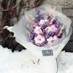 로랑 드라이플라워 꽃다발 꽃선물 (라벤더목화 L)
