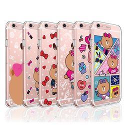 라인프렌즈 iPhone6 6S Plus CHOCO 라이팅 케이스