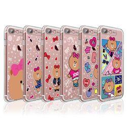 라인프렌즈 iPhone8+ 7 Plus CHOCO 라이팅 케이스