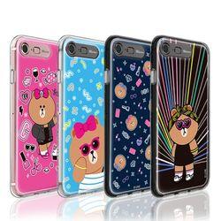 라인프렌즈 iPhone8 7 Plus CHOCO AS 라이팅 케이스