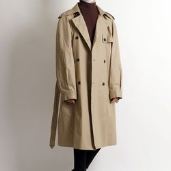 Street sensibility cotton long coat