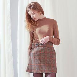 Glen Check Skirt [Orange]