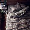 프렌치 린넨 이불 커버 3종 세트(기하무늬) 더블