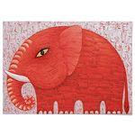 패브릭 포스터 F088 코끼리 Red Elephant [중형]