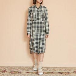 [로코식스] two pocket check dress