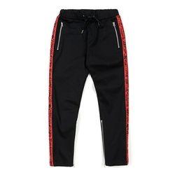 STIGMA LINE ZIPPER JOGGER PANTS RED