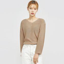 hazleton soft v-neck knit