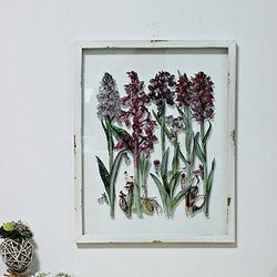 (kkjj261)유리 꽃 액자 (A)