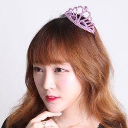 큐빅 공주 티아라(6입) 핑크