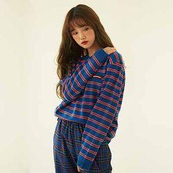 Retro Ribbon Stripe Sweater (4color)(unisex)