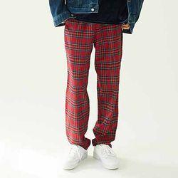 Tartan Check Wide Pants (4color)(unisex)