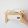 ROUND 1구 강아지 고양이 원목식기 맞춤 제작형
