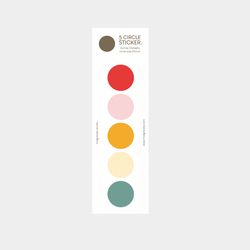 color palette sticker (red-orange)