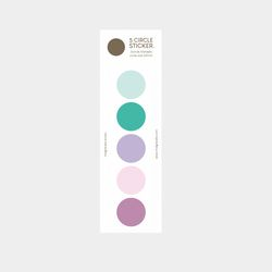 color palette sticker (purple-green)