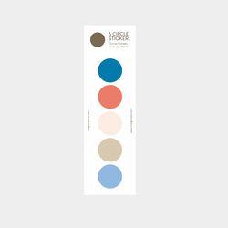 color palette sticker (blue-beige)